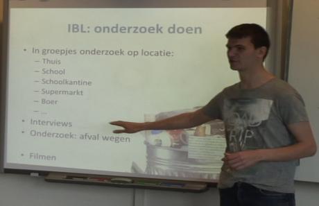 Pre-service teachers present their SSIBL lesson plan