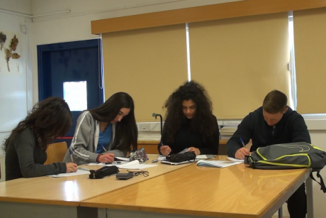 Figure 1. A student group working during the implementation of the module