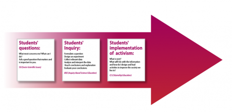 Figure 3. The three stages that were presented to Israeli teachers